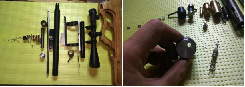фото до и после ремонта винтовки evanix